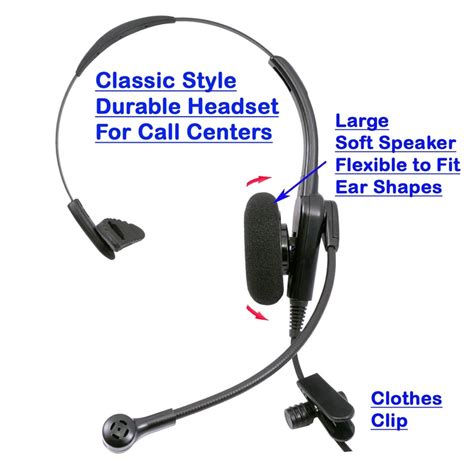 Durable Call center headset fit to Plantronics quick disconnet, Noise Cancel Mic.